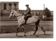 Admiral Grayson on horse in Washington DC
